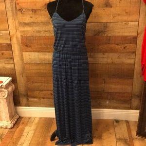 Lauren Conrad Striped Maxi Dress Small